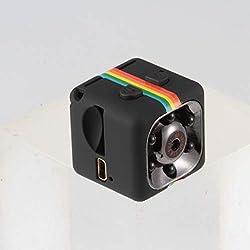 Sunnyflowk SQ11 Mini caméra DVR pour Voiture Caméscope HD CMOS 1080P Enregistreur vidéo de Vision Nocturne Caméra de Sport étanche extérieure (Noir)