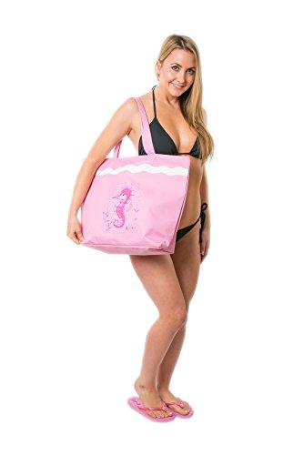 Borsa da Mare Borse Spiaggia Donna Grande Cavalluccio Marino Airee Fairee Cavalluccio Marino rosa