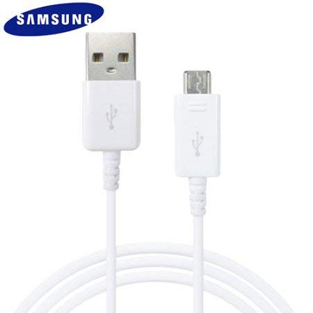 Samsung Véritable Blanc Ecb-du4ewe Galaxy câble de données USB Galaxy S2S3S4S6A3(2016), A5(2016), J1J5J7, Note 2et d'autres Micro ports (sans emballage de détail-Bulk Emballé)