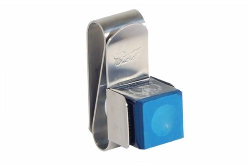 "Billardkreide Halter, Magnet, Cuetec ""MKC-1"" aus Metall, silber"