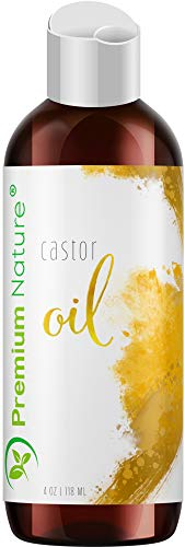 Castor Oil Pure Carrier Oil - Cold Pressed Castrol Oil for Essential Oils Mixing Natural Skin Moisturizer Body & Face Oil, Eyelashes Eyebrows Lash & Hair Growth Serum, Heals Inflamed Skin 4 oz