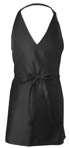 V-neck-tuxedo (Chef Works F23 V-Neck Tuxedo Apron, 32-Inch Length by 28-Inch Width, Black by Chef Works)
