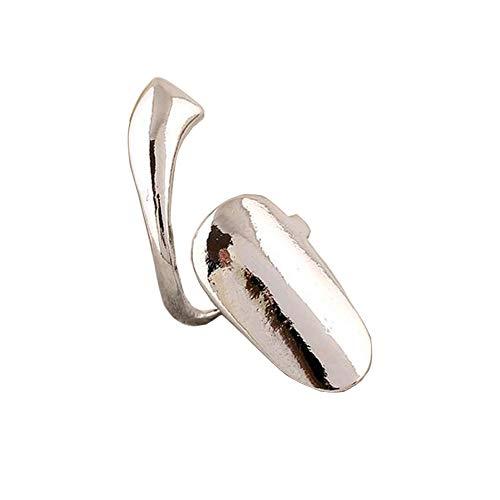 2 Stücke Silber Legierung Glasur Oberfläche Böhmischen Stil Fingernagel Dekoration Ringe Nail art Charme Ringe Tipp Falsche Nagel Bühne Eigentum für Maniküre Mode