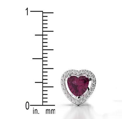 Or blanc 18carats 0,22CT G-H/VS sertie de diamants en forme de cœur tanzanite et boucles d'oreilles Ager-1066