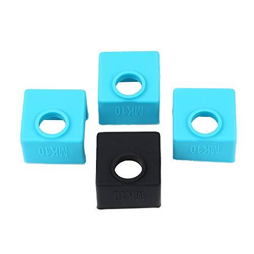 3D Drucker Teile und Zubehör, FYSETC 3D MK10 Silikon Socken Heizblock Silikon Abdeckung für Wanhao Prusa Mendal Extruder Düse, blau, 3