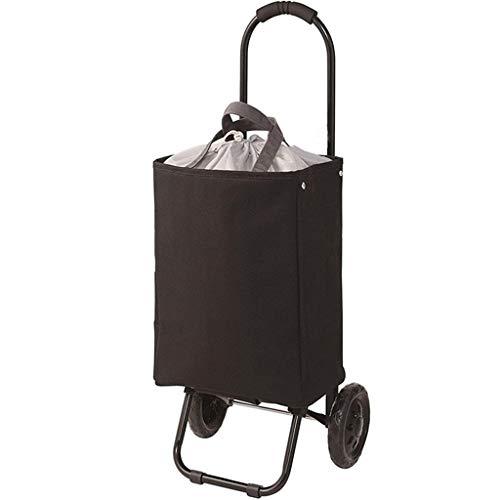 Yangxiaojuan Folding Einkaufstasche, Leicht Large Folding Trolley Warenkorb Wasserdicht Stair Climbing Wagenräder und Nahrung Anti-Rutsch-Griff-Einkaufstüte Folding Trolley (Color : Cyan) -