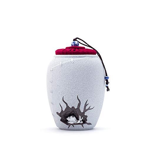 GYZ Haustier Sarg, Haustier Sarg, Haustier Katze Hund Urne Box Tier Gedenkdosen verschlossenen Dosen feuchtigkeitsbeständig tragbare Bestattungsbedarf Aschenurnen der Feuerbestattung (Color : White) (Tier-sarg)