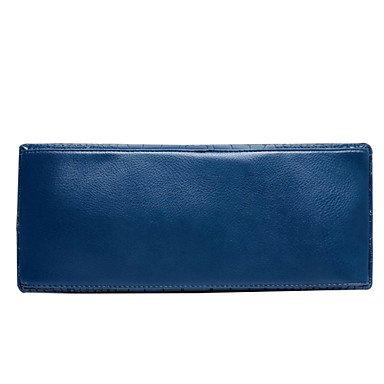 Moda Donna Casual Mutifunction Borsetta tracolla Cusmetic Coin sacchetto custodia imposta,blu Fuchsia