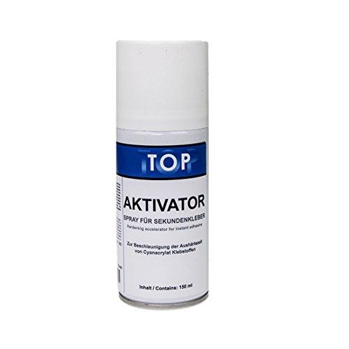 Top Sekundenkleber Aktivator Spray 150ml für schnelles Aushärten von Sekundenklebern - Atomkleber - Superkleber - Blitzkleber (Tops Sekundenkleber)