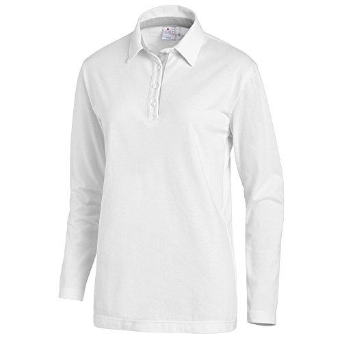 Leiber Unisex-Polo | Ganzer Arm | Stretch | Weiß/Silbergrau