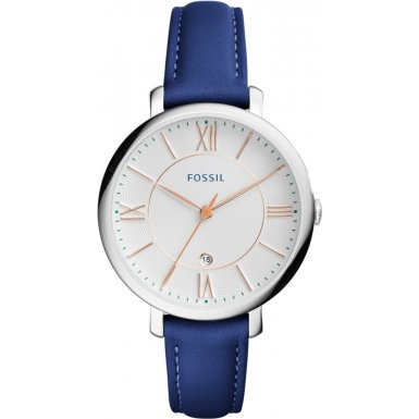 Fossil ES3986 Ladies Jacqueline Blue Leather Strap Watch