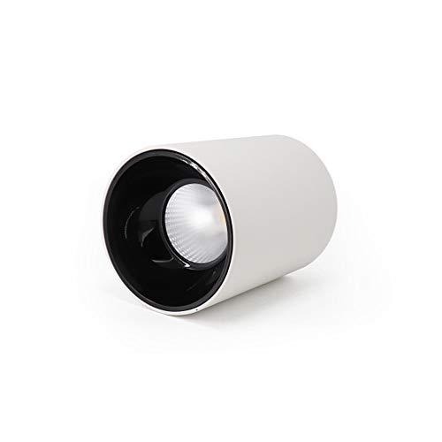 DEPAOSHJ Weiße LED Ra/Farbwiedergabeindex für die Oberflächenmontage: ≥ 90 oder mehr Weißlicht 6000K Wohnzimmer-Wanddeckenleuchte Schwarzes Downlight Shop Mall Station Blendfreie COBLED-Deckenleucht
