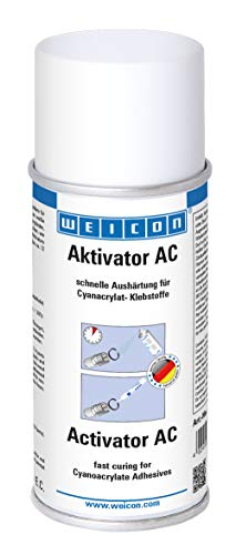WEICON 12505150 CA-Aktivator Spray AC 150ml - Schnelle Aushärtung von Sekundenklebern, farblos