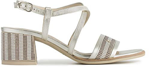 Nero Giardini Sandalo Donna MOD. P908253D Platino 39