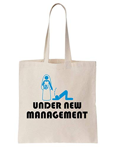 KRISSY Wedding Under New Management Wife Huband Gift Funny Wedding Schultertasche Tote Bag - Herbal Day Creme
