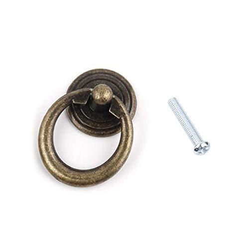 Loveless Land Retro Knöpfe Hängegriffe Türabstellers Kommode Kleiderschrank Ring Ziehen GriffSchrank Eisenwaren Zubehör (Bronze) -