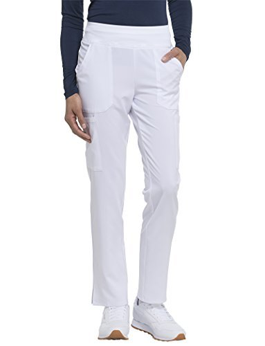 Dickies EDS Essentials by Women's Knit Waistband Scrub Pant XX-Large White