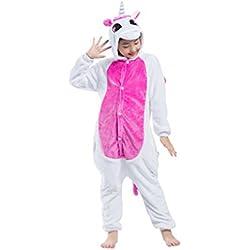 Casa - Pijamas de UnaPieza , Unicornio Niños Kigurumi Unisexo Traje de Disfraz Animal Pyjamas Cosplay para Carnaval Halloween Navidad Ropa de Dormir para Niños