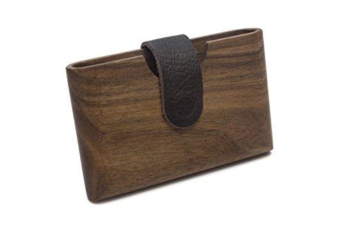 Portmonee aus Holz | Designer Geldbeutel für Männer und Frauen | exklusive Geldbörse für Freizeit und Business | Handgemacht in Deutschland von WOODBI® (Nussbaum)