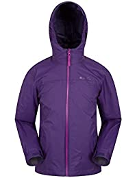 Mountain Warehouse Torrent Kids Waterproof Rain Jacket - Taped Seams Raincoat, Zipped Pockets Childrens Jacket, Adjustable, Girls & Boys Rainwear -Ideal for Travelling