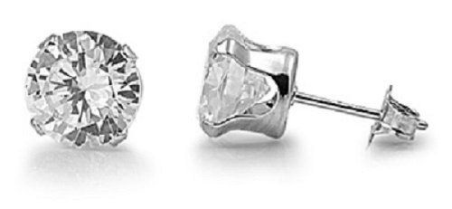 925-sterling-silver-cubic-zirconia-cz-round-4mm-stud-earrings-unisex-brand-new-boxed