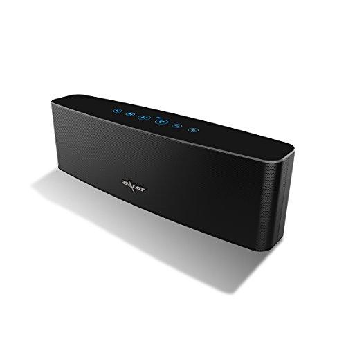 Bluetooth Lautsprecher, ZEALOT S12 Touch Control 4 Treiber Stereo Mobiler,Bluetooth 4.2 speaker Pairing Aux Audio TF Karte unterstützt Design für iPhone, iPad, Samsung,andere Android Geräte [Schwarz]