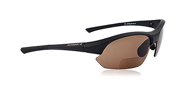 Swisseye Fahrrad Sport Brille Slide Bifocal Braun 2,5 dpt Wechsel Scheiben Klar