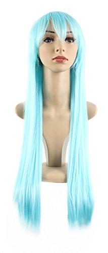 Xiaoyu lange gerade Haar cosplay Kostüm Partei Halloween Perücken - Himmel blau