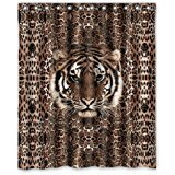PUDA Generic Personalized Tiger Pattern Tiger Head Custom Pillowcase Sold By Too Amazing Shower Curtain Bath Decor Curtain 60