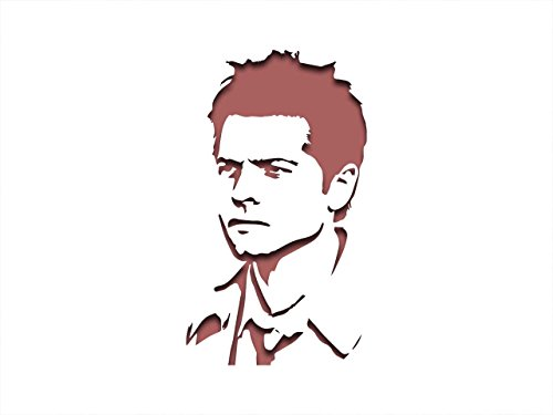 (Castiel Supernatural, Schablone inspiriert – 30,5 x 20,3 cm – 190 Mu Mylar A, Airbrush, Craft, Grafitti st-ml-tv-00010)