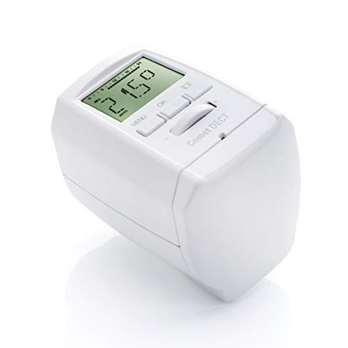 Eurotronic 700018 Comet DECT Heizkörperthermostat, bis 30{36cb34d76907d69840bf2d85b42e1d6e1a522efb4a714e418f0193ae453511e3} Heizkosten sparen mit AVM FRITZ Box kompatibel, Wifi-Heizungsthermostat inkl. Adapter + Batterien, Smarthome-Zubehör