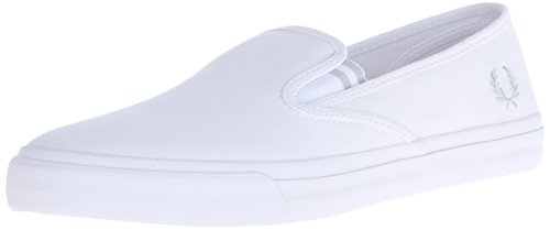 Fred Perry Turner Mens Canvas Shoes White White - 44 EU