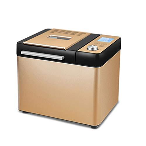 FUDIV Máquina Automática De Pan De 1.6 LB con Dispensador De Nueces para Máquina De Pan De 21 Menús Programable Multipropósito 550W, Dorado