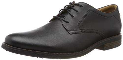 Clarks Men's Becken Lace Brogues, Schwarz (Black Leather), 47 EU