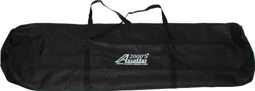 Audio2000'S ACC4395-99 Lautsprecherständer, Leinen, mit Trennklappe, 2 Stück -