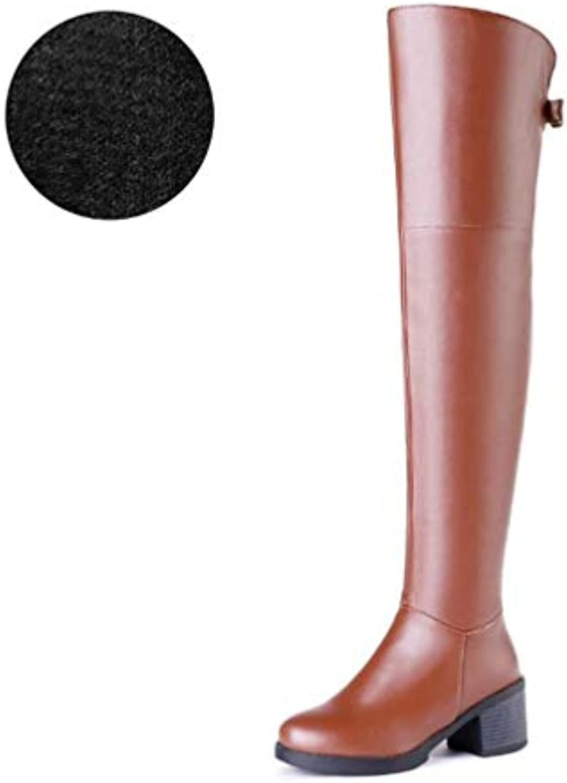 HAOLIEQUAN Stivali da Donna Inverno Nuovo Stile Stile Stile Europeo Pu Spessore Tacco Alto Scarpe Piattaforma Stivali sopra... | Pacchetto Elegante E Robusto  | Uomini/Donne Scarpa  2ebabf