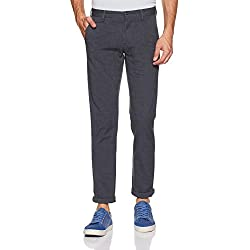 Arrow Sports Men's Relaxed Fit Casual Trousers (ASWTR2447_Grey_34W x 34L)