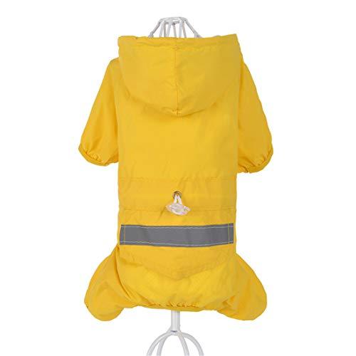 PZSSXDZW Haustierregenmantel Doppelschicht-Hunderegenmantel Frühlings- und Sommerkleidung Hundekostüm Kleidung für Hunde Yellow Small