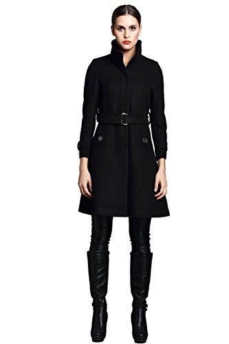 Escalier Damen Mantel Schwarz Schwarz