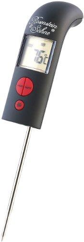 Rosenstein & Söhne Küchen-Thermometer: Digitales Bratenthermometer mit Signalton (Haushalts-Thermometer)