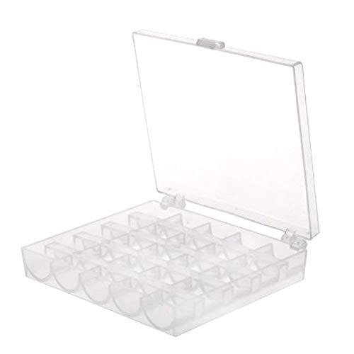 Sungpunet Praktische Spulenbox solide Nähgarn Manager Mehrzweck- 25 Spule Kunststoff Seide Manager Box