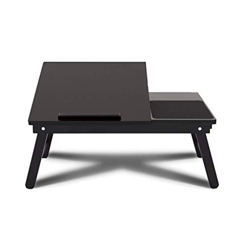 Einfacher Klapptisch HJCA Tisch - Klappbarer Computer Schreibtisch Bett Schreibtisch Schreibtisch Notebook Bett Student Kleiner Schreibtisch Schlafsaal Lazy Computer Schreibtisch - Schwarz Outdoor Cam -