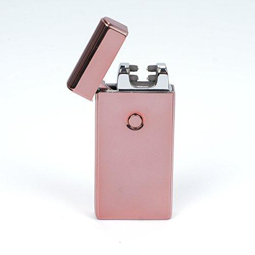 VOSO USB Elektronisches Feuerzeug Aufladbar Lichtbogen (Rosa)