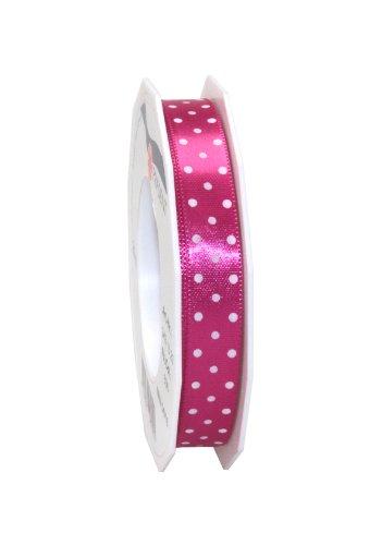 Präsent 3431520-606 - Cinta de tela (20 m, 15 mm de ancho), diseño de lunares, color rosa