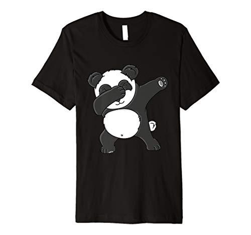 Dabbing Panda T-Shirt Lustiges Panda Bär Shirt (Bär T-shirt Damen)