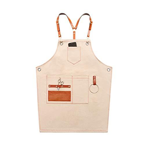 Enerhu Arbeitsschürze aus Segeltuch, strapazierfähig, mit Taschen, Verstellbarer Gurt für Zimmermann/Gärtner One Size - Niedliche Kostüm Für Plus Größen