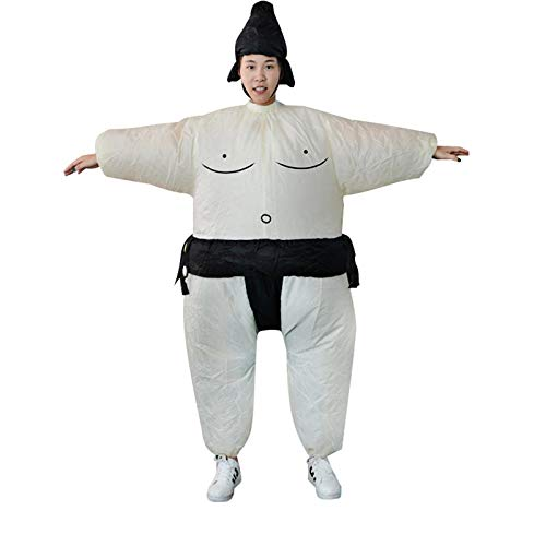 Fat Suit Kostüm Womens - Bianchi Inflatable Sumo Dress Fat Man and Woman Suite Fat Masked Suit Blow Up Dress