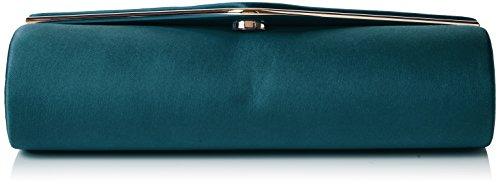 Swanky Swans - Kim Metallic Envelope Bag, Pochette da giorno Donna Verde (Spruce Green)