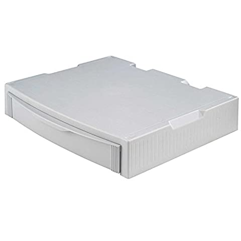 HAN 9250-11, Support MONITOR, support pro pour moniteur, comprenant un tiroir. Stable, élégant et superposable, gris