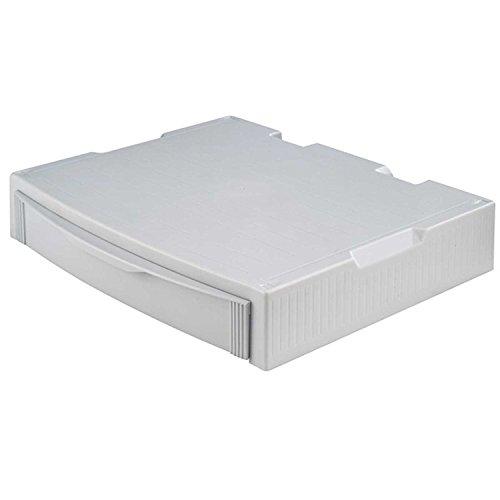 HAN 9250-11, MONITOR STAND, Profi Monitorständer mit 1 Schublade, Stabil, Schick und stapelbar, grau -